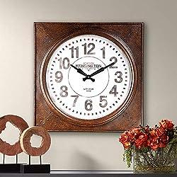 River Parks Studio Kensington Station 26 1/4 Wide Square Metal Wall Clock