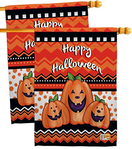 Breeze Decor HP112062-P3AE Halloween Trio Fall Impressions Decorative Vertical 28