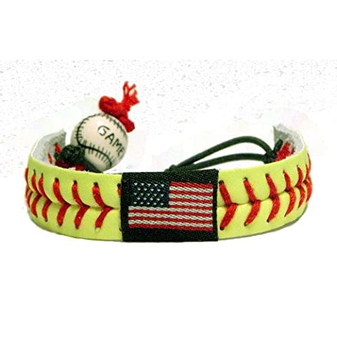 American Flag Classic Softball Bracelet - Gamewear Sports Bracelet