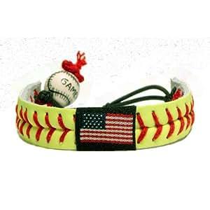American Flag Classic Softball Bracelet
