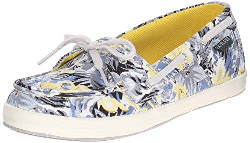 Eastland Women's Skip Boat Shoe, Gray/Multi, 7 M US