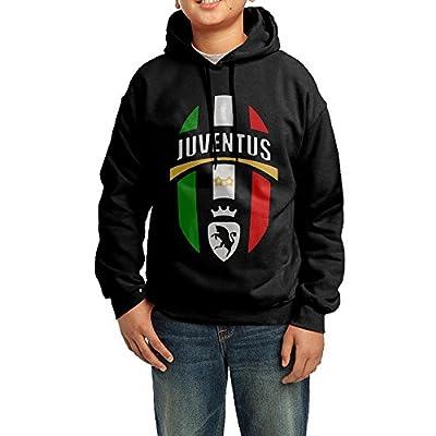 Juventus FC Youth Hooded Sweatshirt Cotton Black
