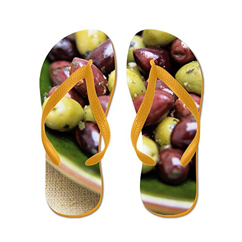 Cafepress Mixed Olives - Chanclas, Sandalias Thong Divertidas, Sandalias De Playa Naranja