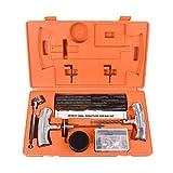 Wynnsky 54 Pieces Orange Speedy Seal Heavy Duty Tire Repair Tools Kit Toolbox