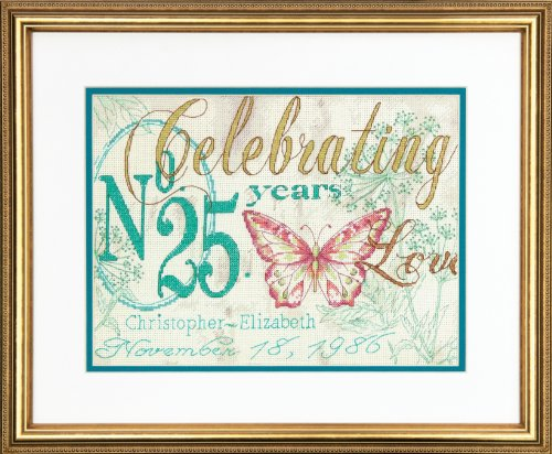 Dimensions Needlecrafts Counted Cross Stitch Kit by Kathryn White, Celebrating Anniversary Record]()
