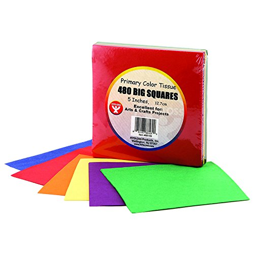 Tissue Paper 480 Squares Primary (Tissue Paper Crafts For Halloween)