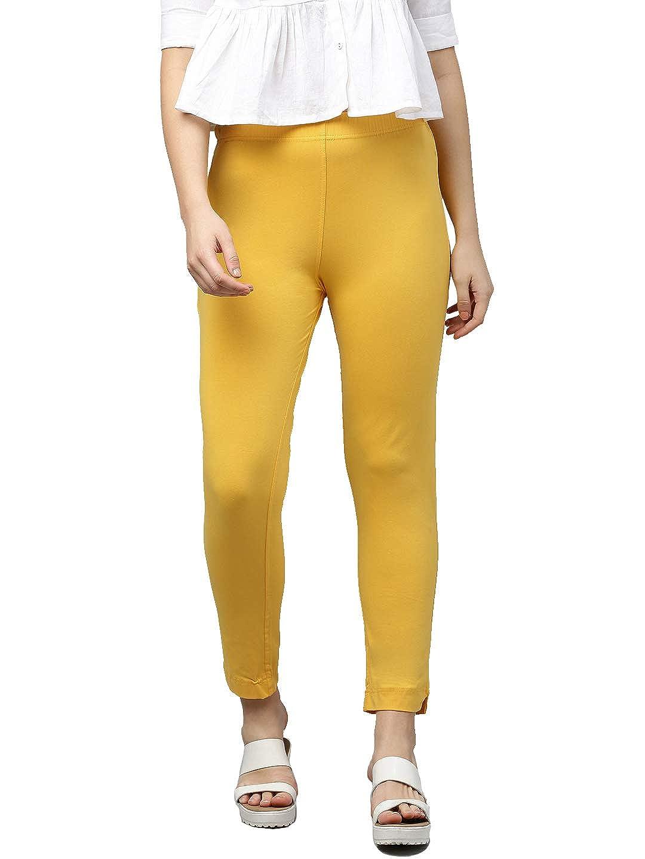 LUX LYRA Women's Straight Pant Slim (LYRA_KURTIPANT_1PC_Yellow_Free Size)