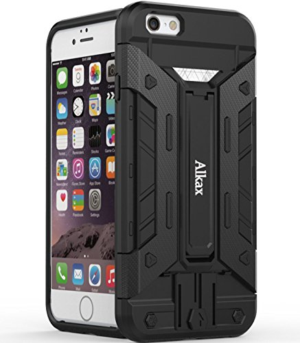 iPhone 6S Plus Case, iPhone 6 Plus Case , Alkax Credit Card Holder Slot With Kickstand Dual Layer Series Protective Bumper Cover For iPhone 6S Plus 5.5 inch+ 1 Stylus Pen