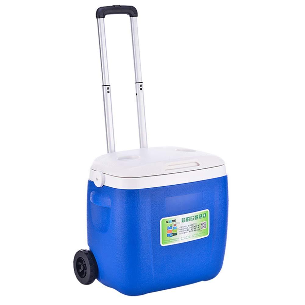 36L Cooler Box Outdoor Pull Rod Wheel PU Cooler Box Medical Drug Refrigerator 47  31  44CM