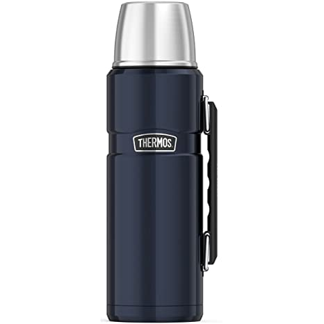3e93256af3 Amazon.com: Thermos Stainless King 40 Ounce Beverage Bottle, Midnight Blue:  Thermoses: Kitchen & Dining