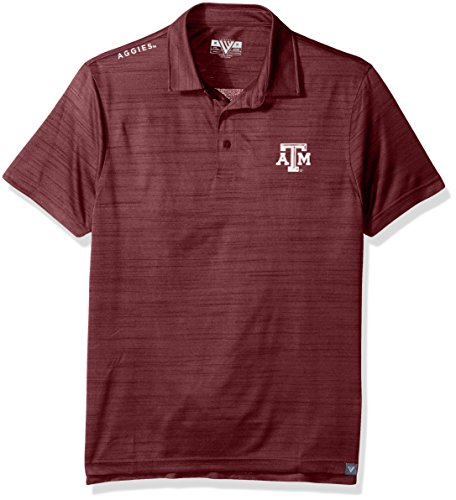 NCAA Texas A&M Aggies Men's Sway Wordmark Polo, Large, Heather - Aggies Golf A&m Texas