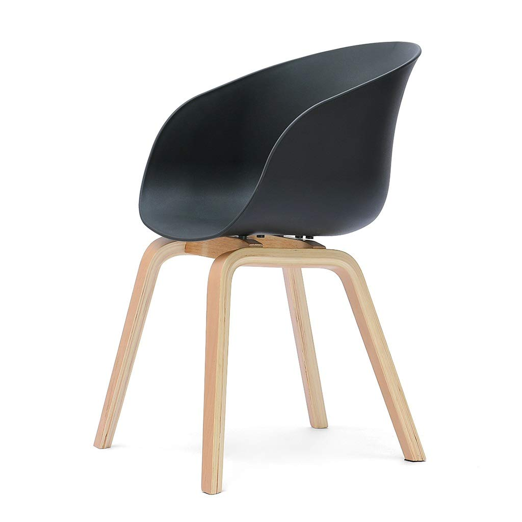 Black 505080cm Dining Chairs Chair Coffee Chair Negotiate The Chair Solid Wood Dining Chair Kitchen Chair Makeup Chair Computer Chair Modern Lounge Chair Dining Chairs (color   Black, Size   50  50  80cm)