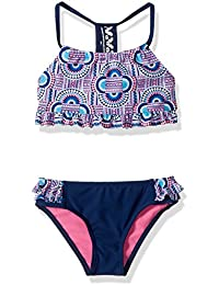 Girls' Bright Geometric Tankini