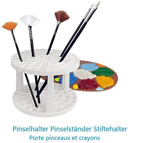 Porta pennelli Ø 14, 5cm - spazio per 49 pennelli colori matite penne - per artisti pittura accademia belle arti - EMI Craft