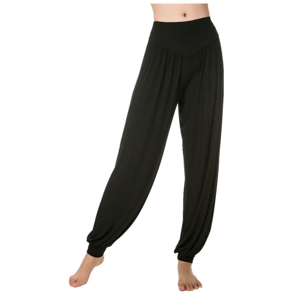 Womens Modal Spandex Legging Cotton Soft Yoga Sports Dance Harem Pilates Pants