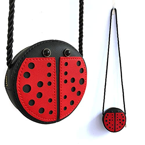 Little Girls Purse Ladybug Bag Mini PU Leather Crossbody Bag Coin Pouse for Kids Girls - Little Ladybug Cute