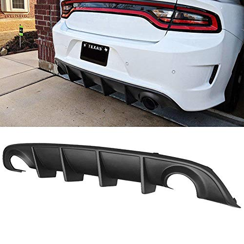 OSIAS Rear Bumper Diffuser Fits 15-19 Dodge Charger SRT OE Style Rear Lip Bumper Valance Diffuser PP