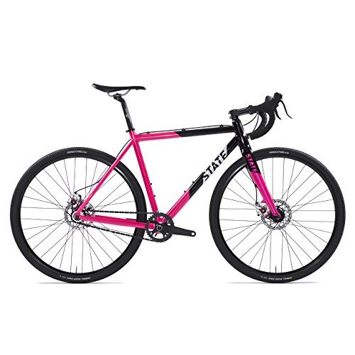 - State Bicycle Offroad Division Single Speed Cyclocross Deluxe Bike, Thunderbird, 58cm