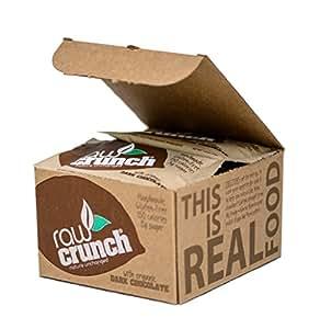 Raw Crunch Bars - Organic Dark Chocolate - Box of 12 Bars