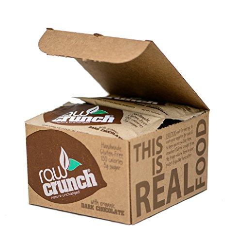 Raw Crunch Bars - Organic Dark Chocolate - Box of 12 Bars (Best Organic Dark Chocolate Bars)