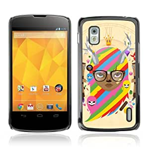 YOYOSHOP [Cool & Cute Fantasy Illustration] Custodia Case Cover per LG Google Nexus 4