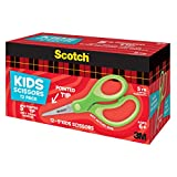 Scotch 5-Inch Soft Touch Pointed Kid Scissors, 12