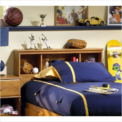 South Shore Twin Bookcase Headboard in Country Pine Finish