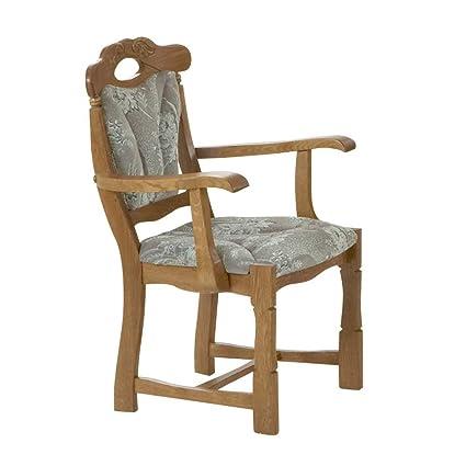 Pharao24 silla de comedor sillas con reposabrazos P43 roble ...