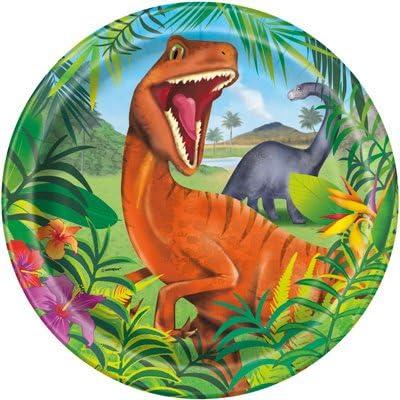 Amazon.com: Dinosaurio T Rex fiesta platos servilletas vasos ...