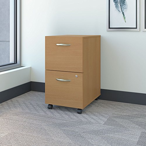 Series C 2 Drawer Mobile File Cabinet in Light Oak (Mobile File Cabinet Light)