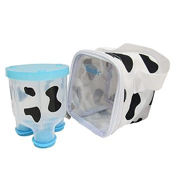 Pink Basilic Baby Formula Milk Powder Dispenser//Snack Storage Cow Pattern 3 Compartment