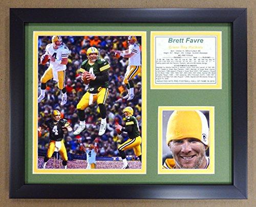 Legends Never Die Brett Favre Framed Photo Collage, 11x14-Inch
