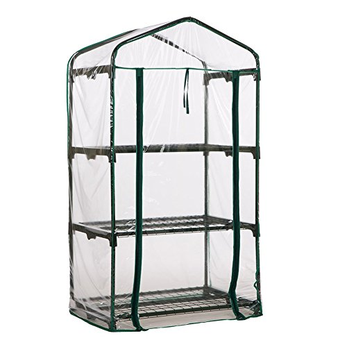 4 Tier Standing Greenhouse Cover, Portable Indoor Outdoor Garden, For House Plants, Replace the Clear Greenhouse Stand…