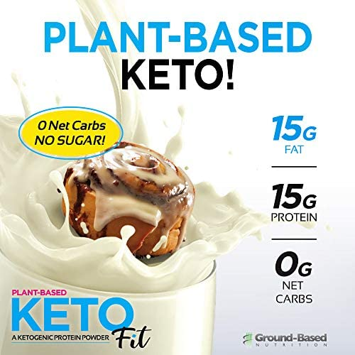 Ground Based Nutrition, Protein Powder Ketogenic Plant Based Cinnamon Roll, 18.5 Ounce 4