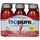 Isopure Plus 0 Carb Protein Drink Alpine Punch, 6-Count, 8 Ounces Bottles  (Pack of 4)