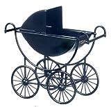 Dollhouse Miniature Black Baby Carriage