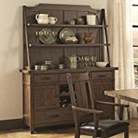 Padima Rustic Rough-Sawn Buffet with Wine Storage