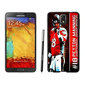 Samsung Galaxy Note 3 Peyton Manning Black Screen Cellphone Case Personalized and Charming Design