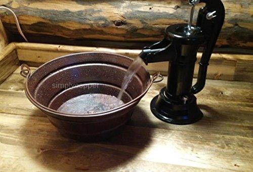 Simplycopper 15 Quot Rustic Round Copper Bucket Vessel Bath