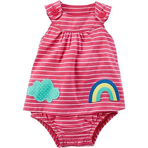 Carter's Baby Girls' Striped Rainbow Cloud Sunsuit
