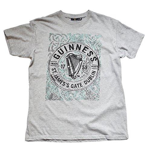 Guinness Grey ST James Gate Dublin T-Shirt - James Guinness St Gate