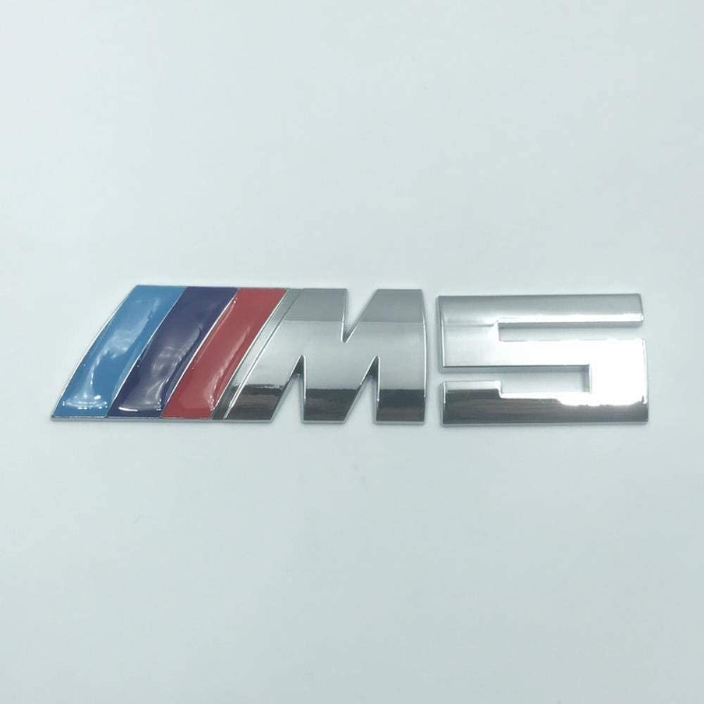 M5 Silber Trikolore OMGDZ Geeignet f/ür BMW M Autoaufkleber Logo 5er M3 M5 X1M X3M X5M X6 Metall Auto Aufkleber Hecketikett