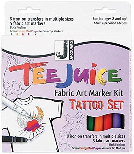 (Jacquard Tee Juice Fabric Marker Kit (Tattoo) )
