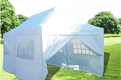 Quictent Silvox Waterproof 20x10 Ez Pop Up Canopy