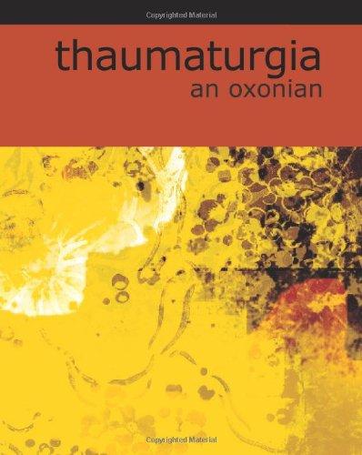 Thaumaturgia pdf epub