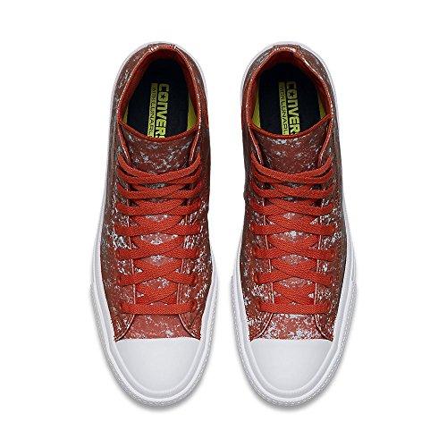 Converse Mens All Star Hero Chuck Ii Hi Sneaker Signal Rosso / Argento Puro / Bianco
