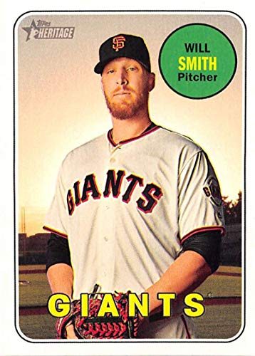 (2018 Topps Heritage High Number Baseball #614 Will Smith San Francisco Giants Official MLB Trading Card)