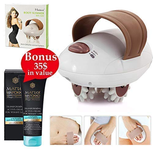 - Sculpt Your Dream Body with 3D Electric Handheld Massager Slim Roller Fat Burning Relaxing Anti-Cellulite Facial Sculpting Machine to Lose Weight and Relieve Tension + European Slimming Cream +E-Book