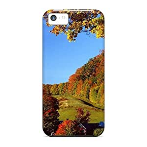 LJF phone case New Fashion Premium Tpu Case Cover For iphone 4/4s - Little Village T Autum