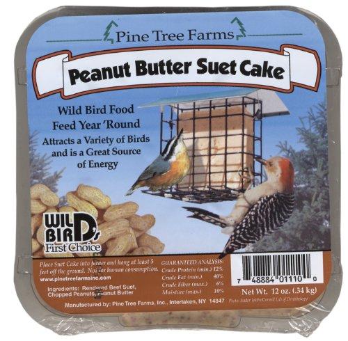Farms Peanut - Pine Tree Farms 1110 Suet Peanut Butter Cake, 12-Ounce